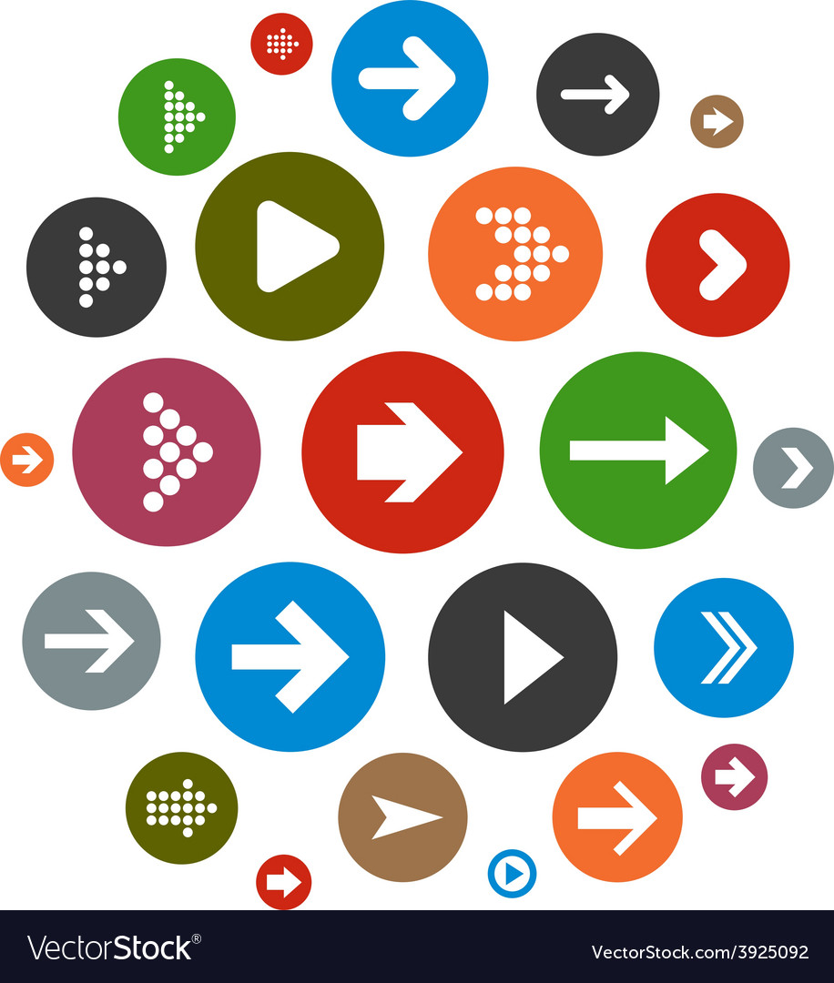 Cloud set of round modern arrow icons vector | Price: 1 Credit (USD $1)