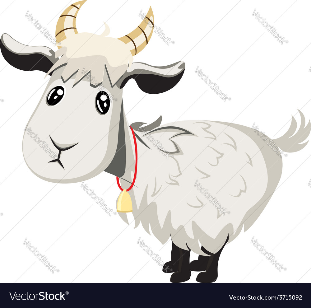 Cute goat vector | Price: 1 Credit (USD $1)