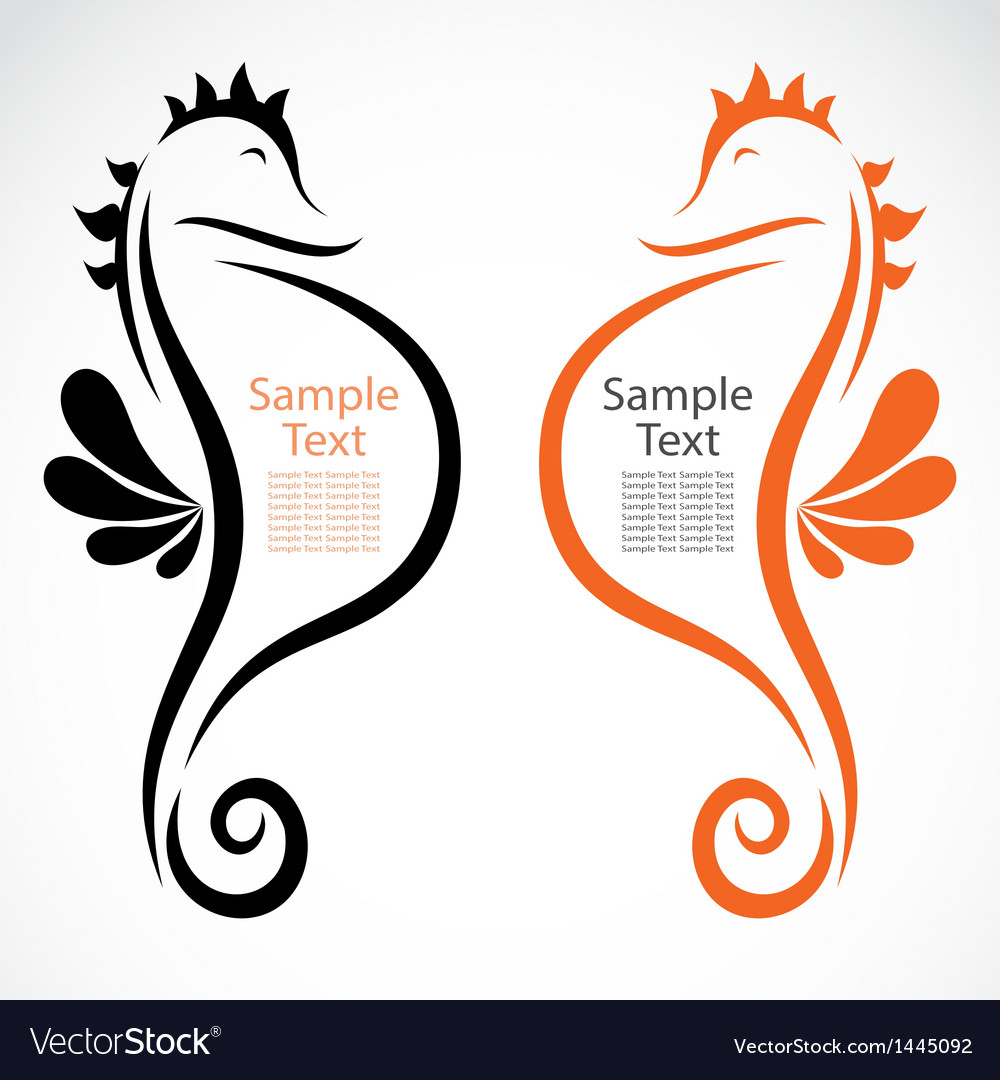 The design of the seahorse vector | Price: 1 Credit (USD $1)