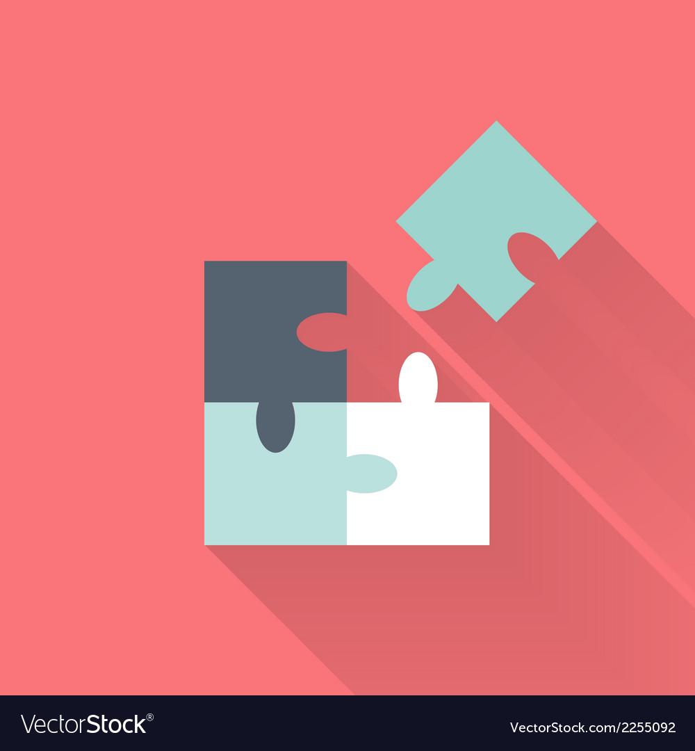 Flat puzzle icon vector   Price: 1 Credit (USD $1)