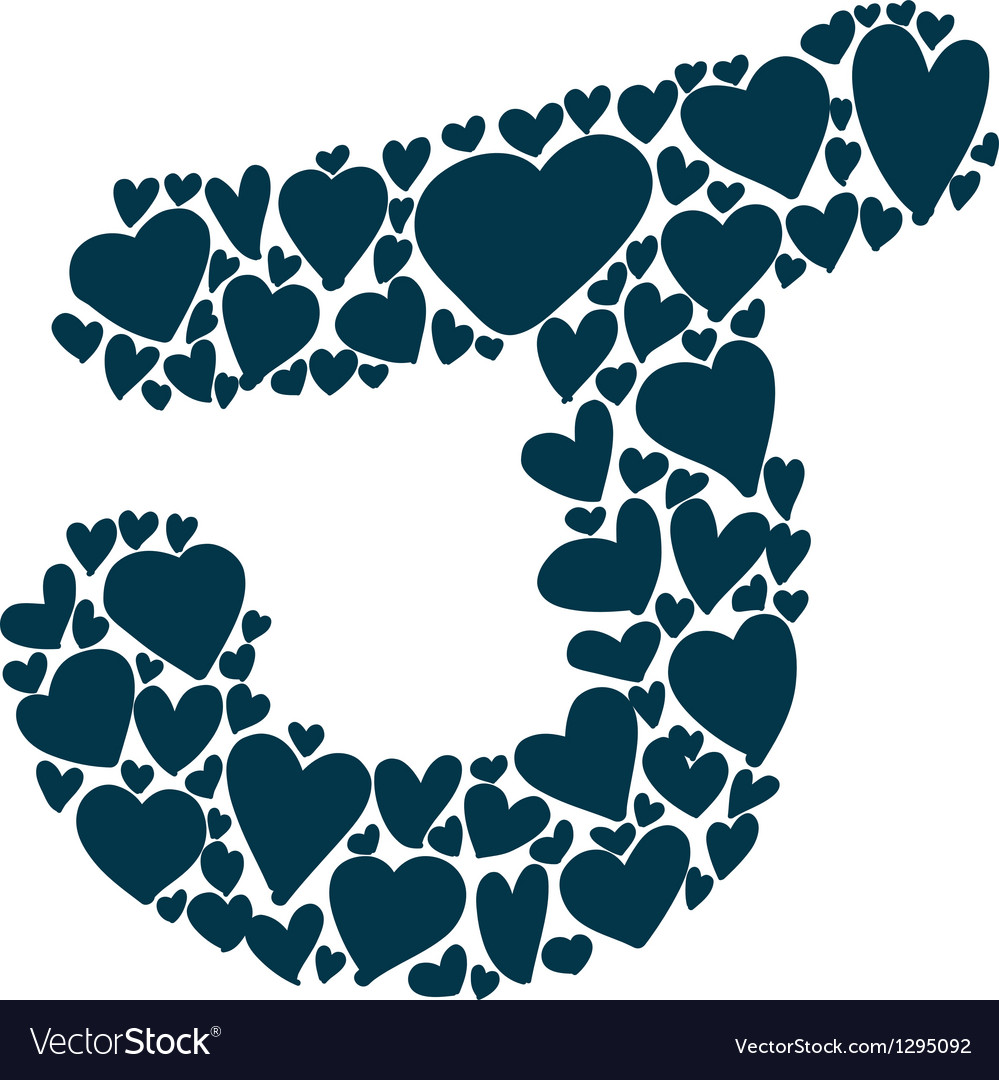 Hand-drawn heart-shaped colorful alphabet vector | Price: 1 Credit (USD $1)
