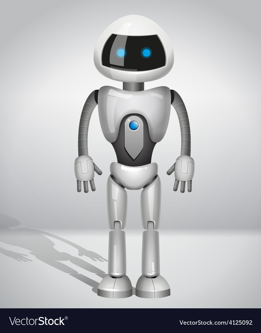 Robot with screen indicator vector | Price: 3 Credit (USD $3)