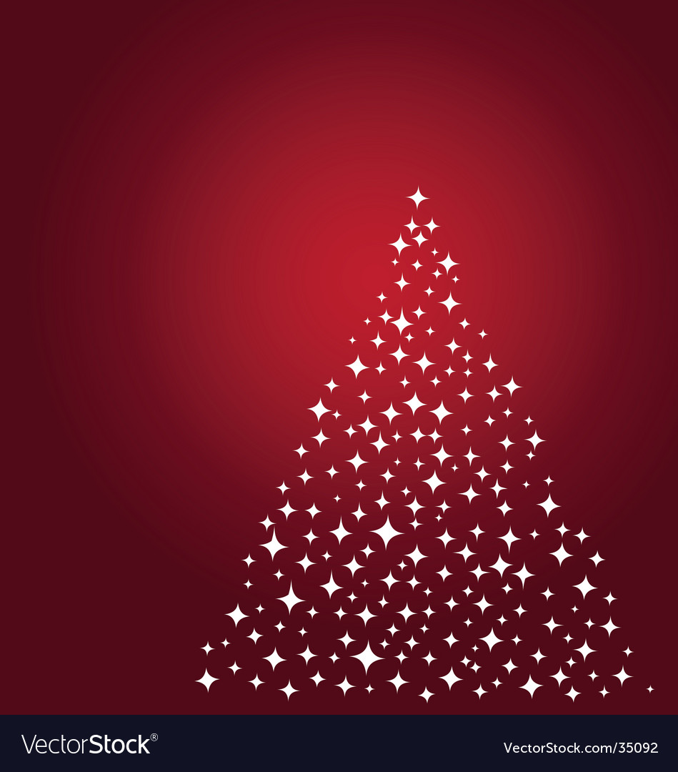 Stars christmas tree vector | Price: 1 Credit (USD $1)