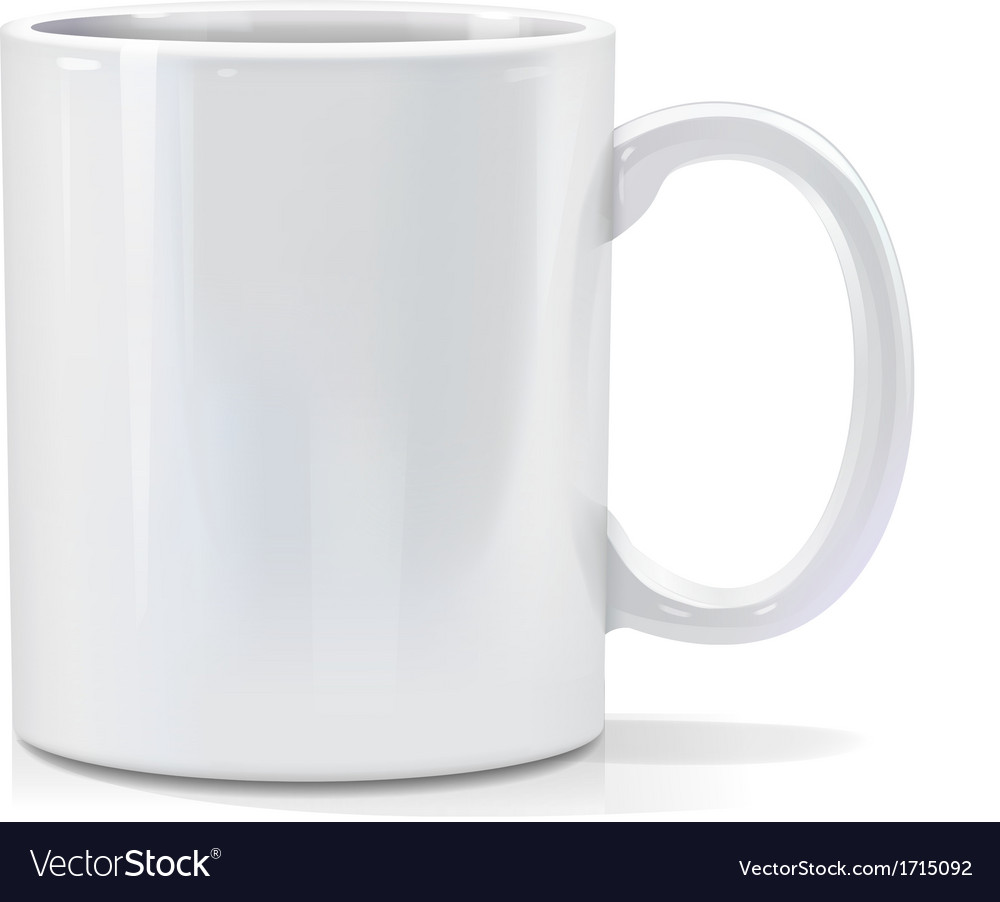 White mug vector | Price: 1 Credit (USD $1)