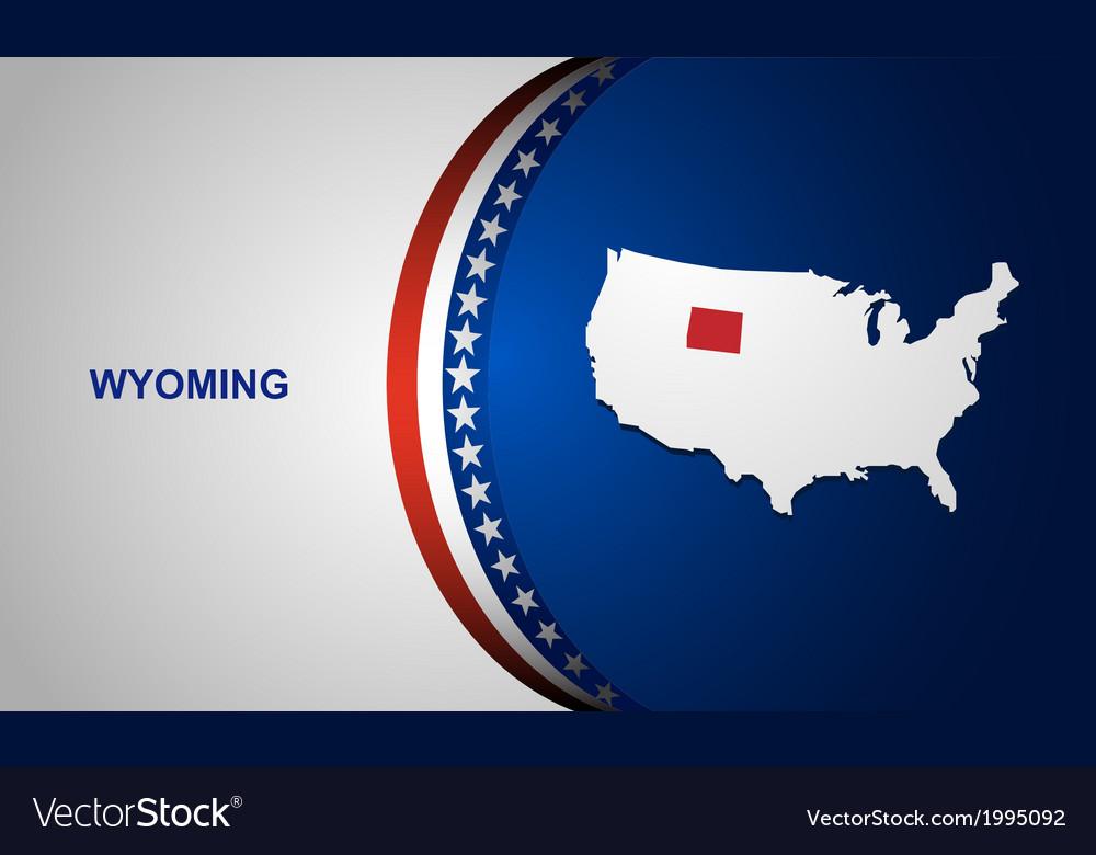 Wyoming vector | Price: 1 Credit (USD $1)