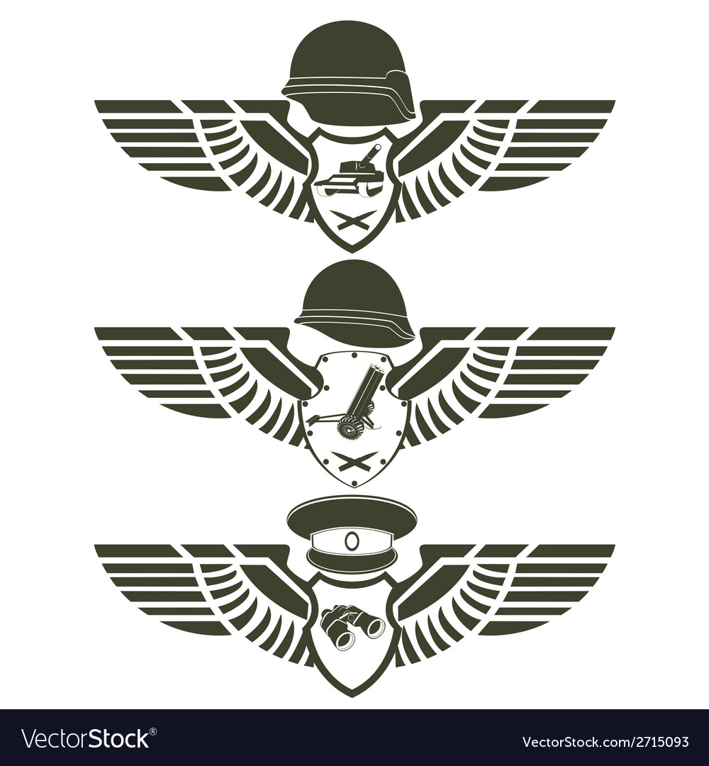 Army badges-1 vector | Price: 1 Credit (USD $1)