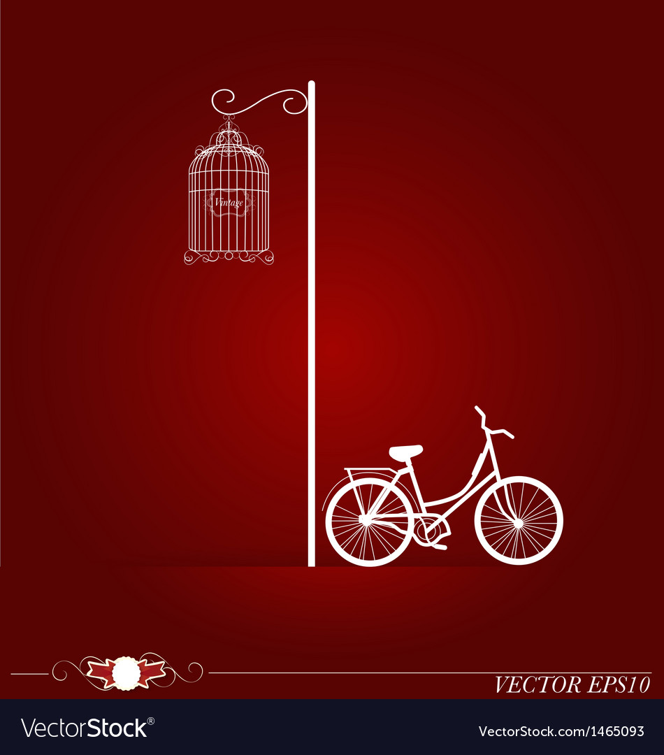Bicycle in park background vector | Price: 1 Credit (USD $1)