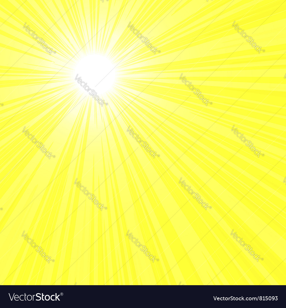 Bright sun rays vector | Price: 1 Credit (USD $1)