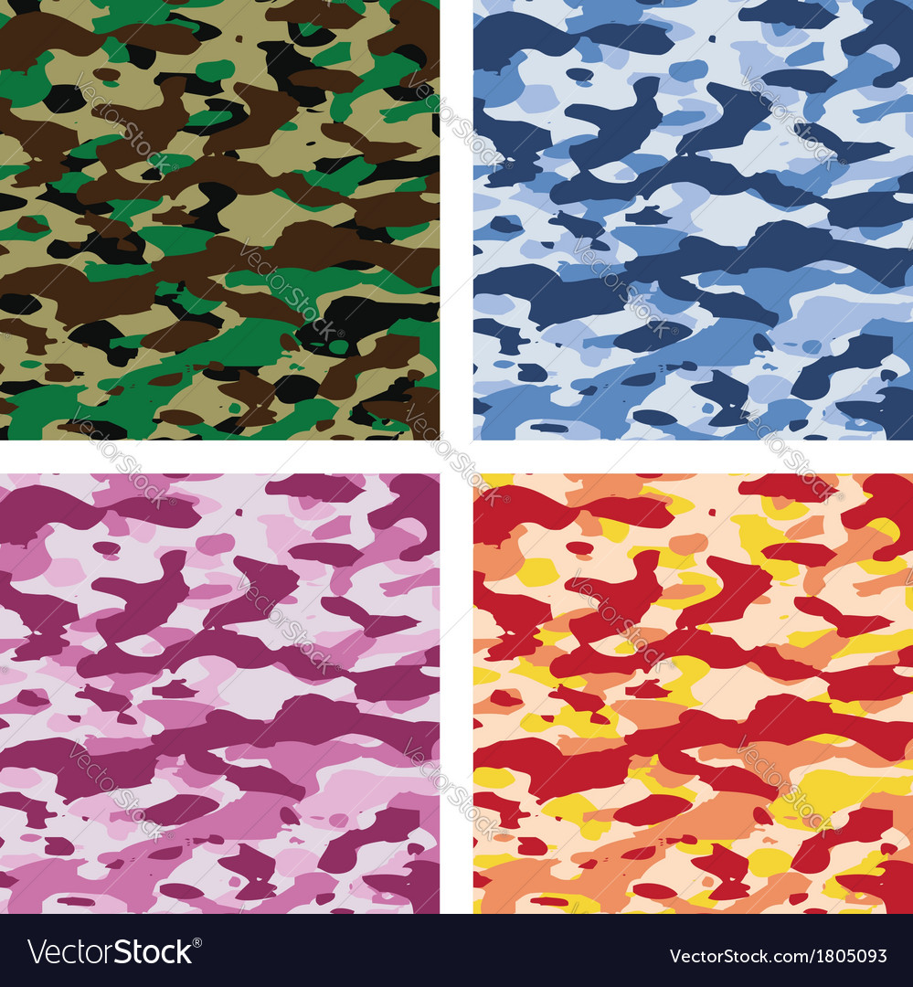 Camouflage patterns vector | Price: 1 Credit (USD $1)