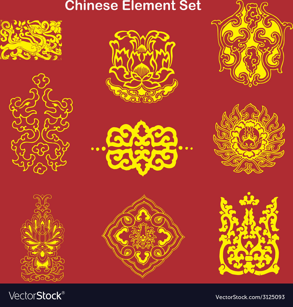 Chinese elements vector | Price: 1 Credit (USD $1)