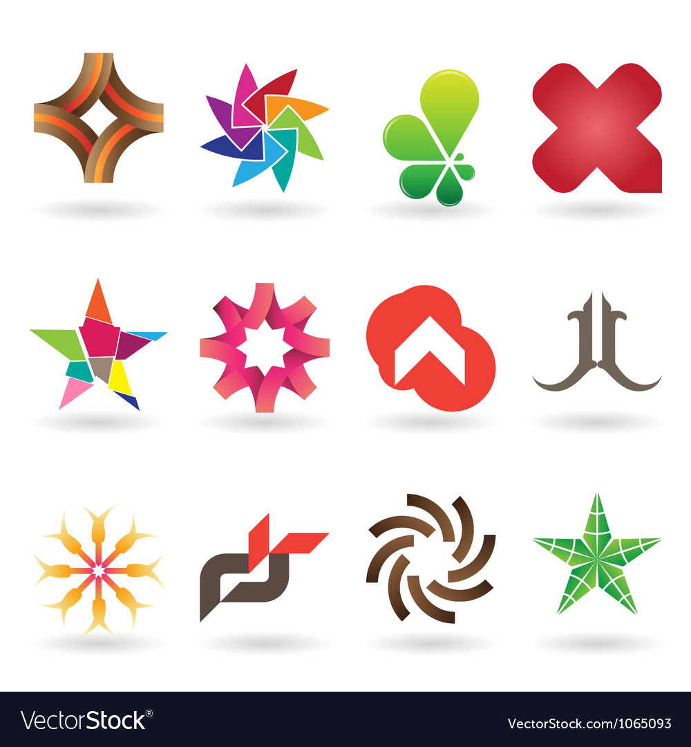 Contemporary logo collection vector | Price: 1 Credit (USD $1)