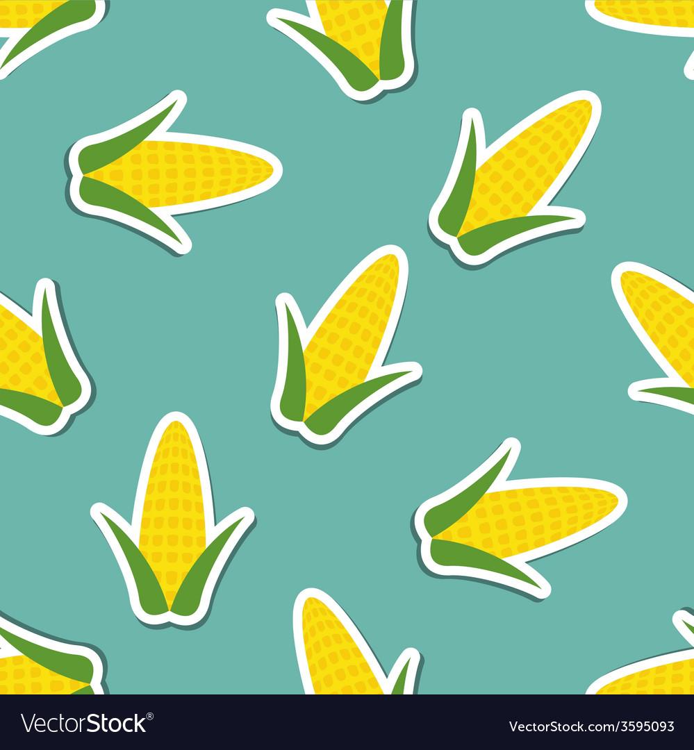 Corn pattern seamless texture vector | Price: 1 Credit (USD $1)