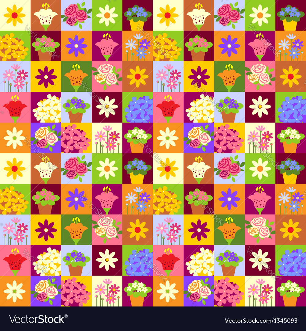 Flower shop pattern vector | Price: 1 Credit (USD $1)