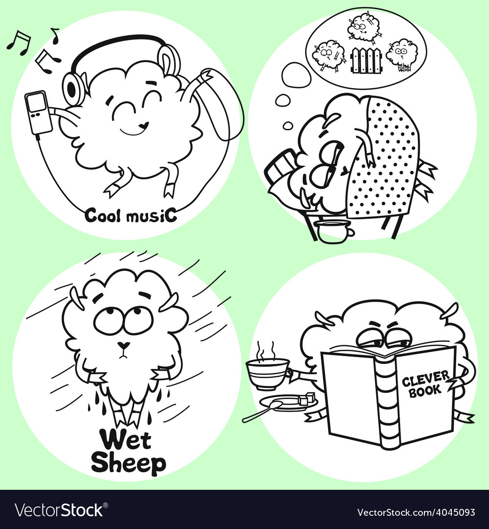 Funny sheep vector | Price: 1 Credit (USD $1)