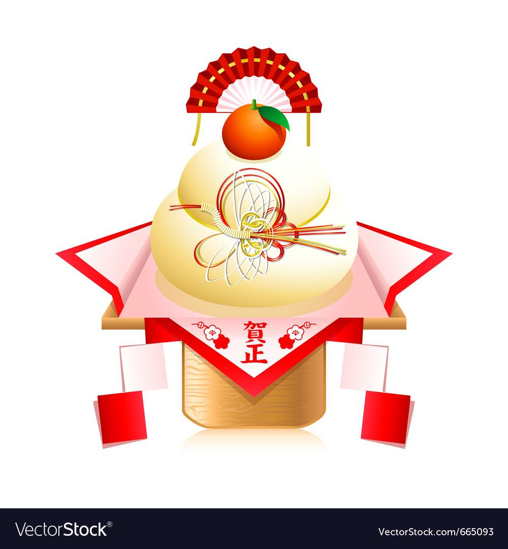 Kagami mochi decoration vector | Price: 3 Credit (USD $3)