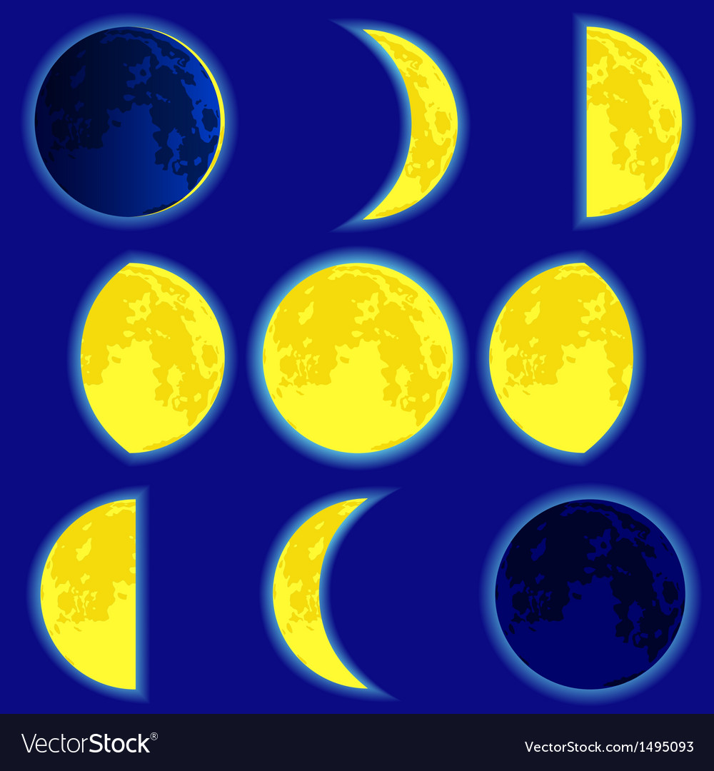 Lunar phase vector | Price: 1 Credit (USD $1)