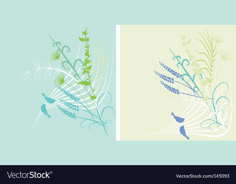 Spring background with birds vector | Price: 1 Credit (USD $1)