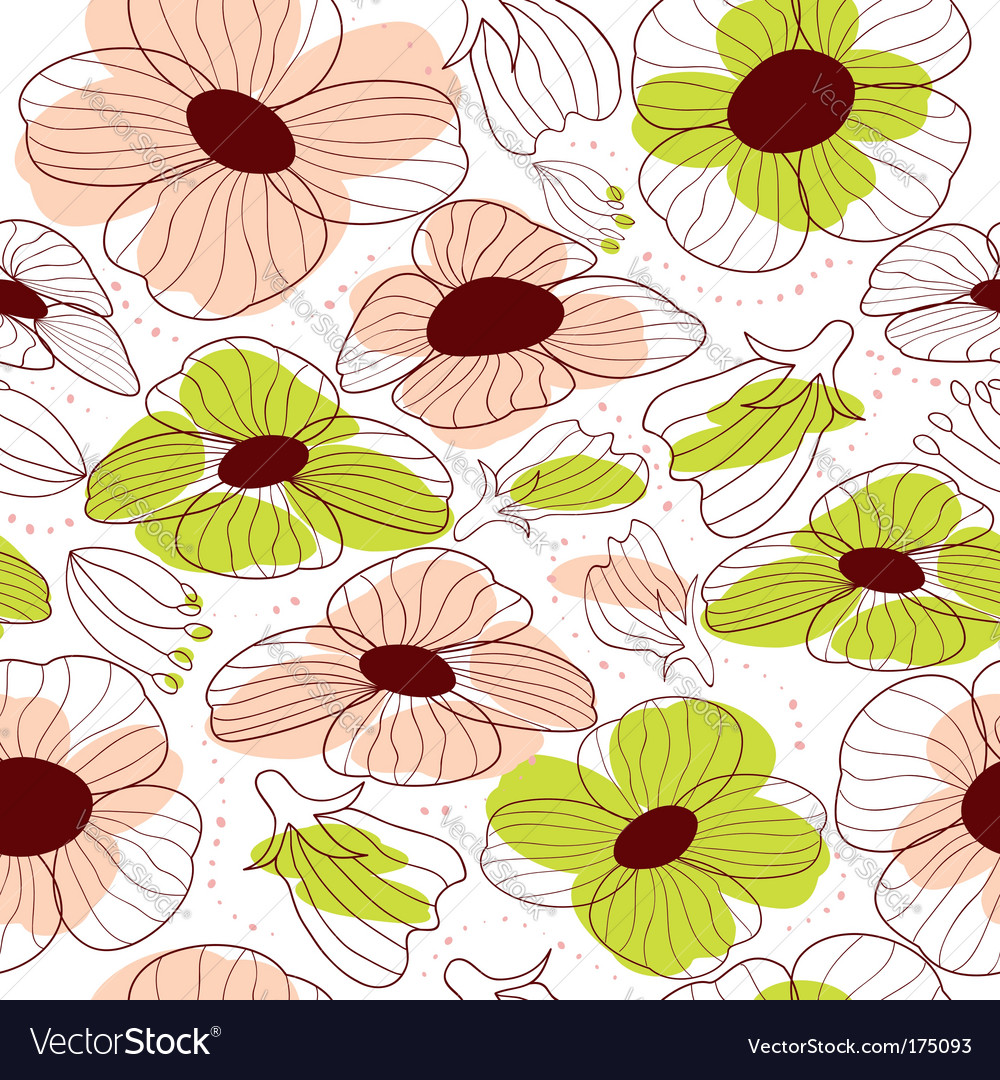 Springtime floral seamless pattern vector | Price: 1 Credit (USD $1)