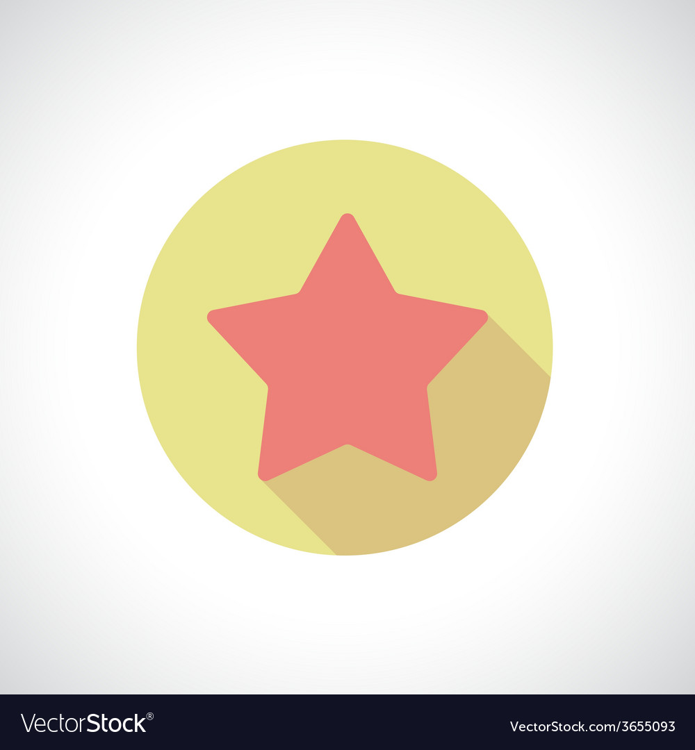 Star icon with shadow vector | Price: 1 Credit (USD $1)