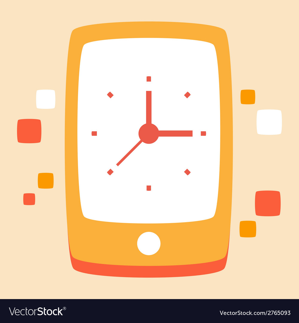 Time phone calls and conversations vector | Price: 1 Credit (USD $1)