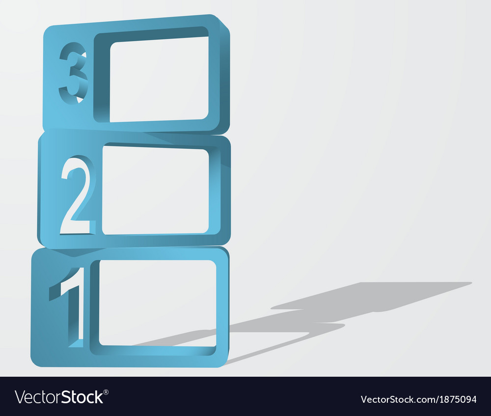Abstract 3d numbered frames infographic element vector | Price: 1 Credit (USD $1)