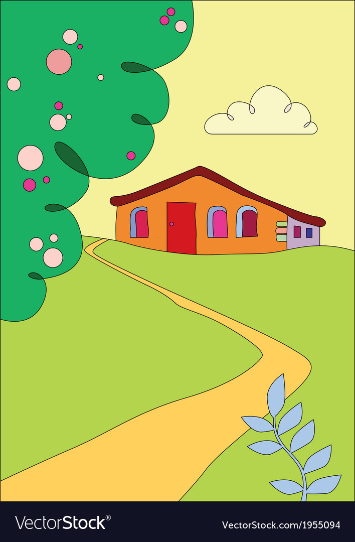 Cottage on the outskirts vector | Price: 1 Credit (USD $1)