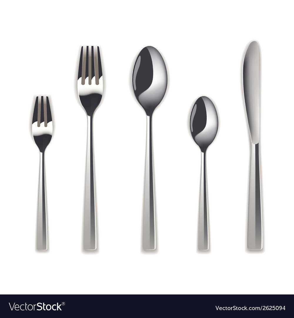 Cutlery set isolated vector | Price: 1 Credit (USD $1)