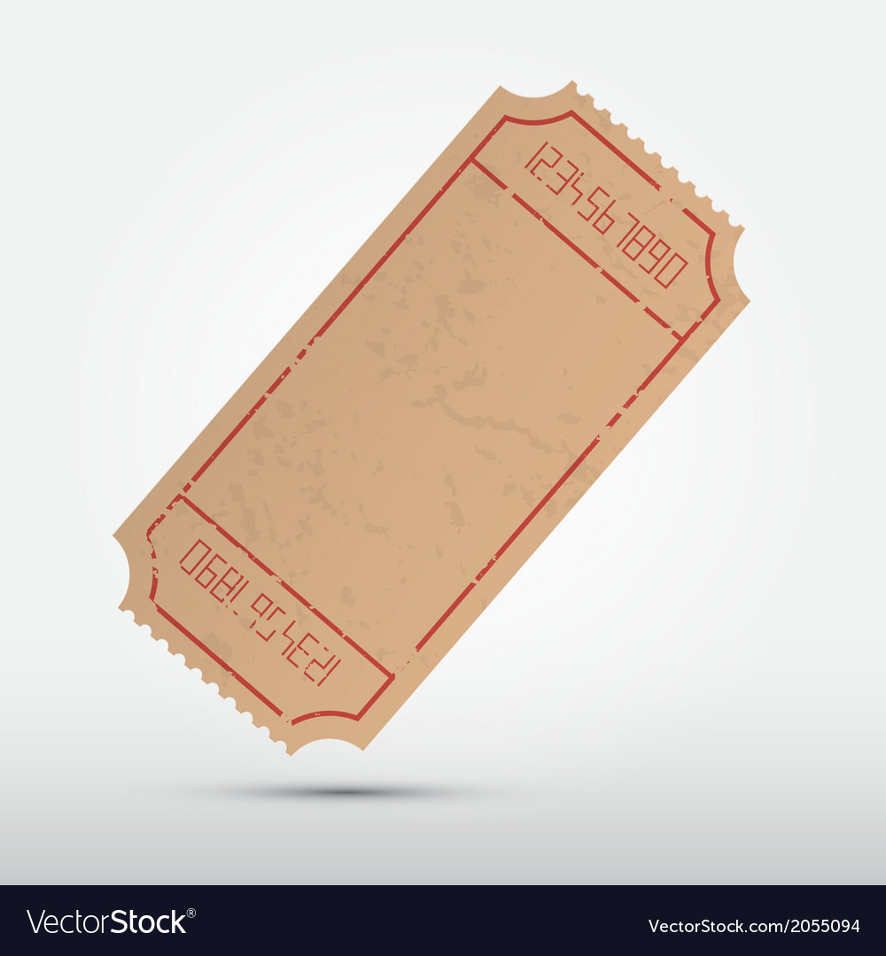 Empty ticket isolated on grey background vector | Price: 1 Credit (USD $1)