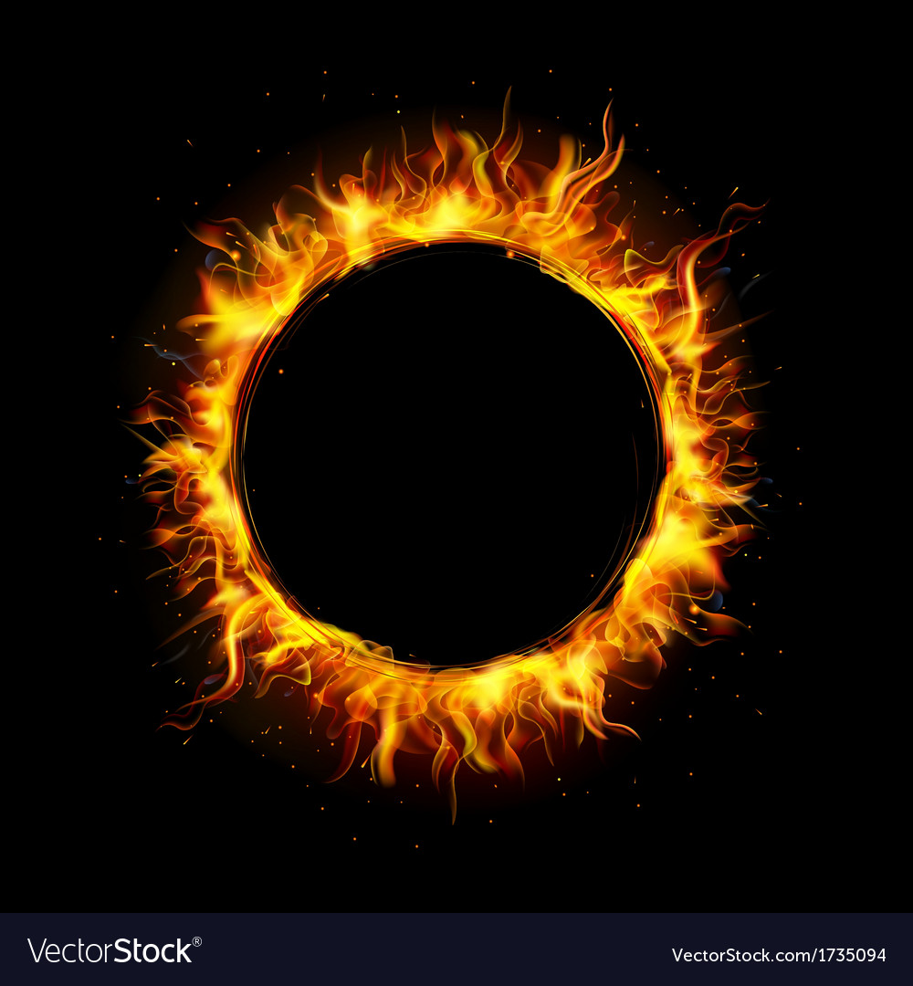 Fire circle vector | Price: 1 Credit (USD $1)