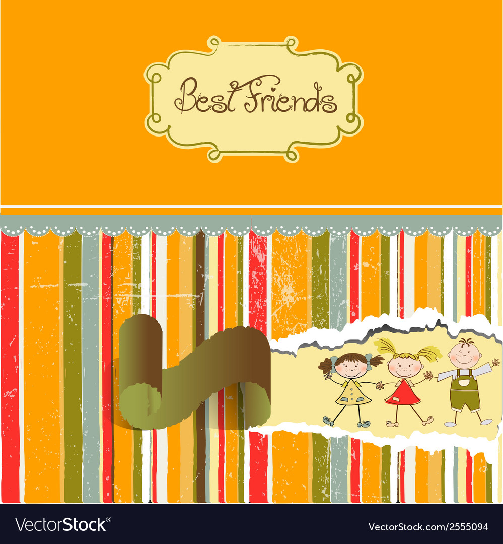 Happy friends vector | Price: 1 Credit (USD $1)