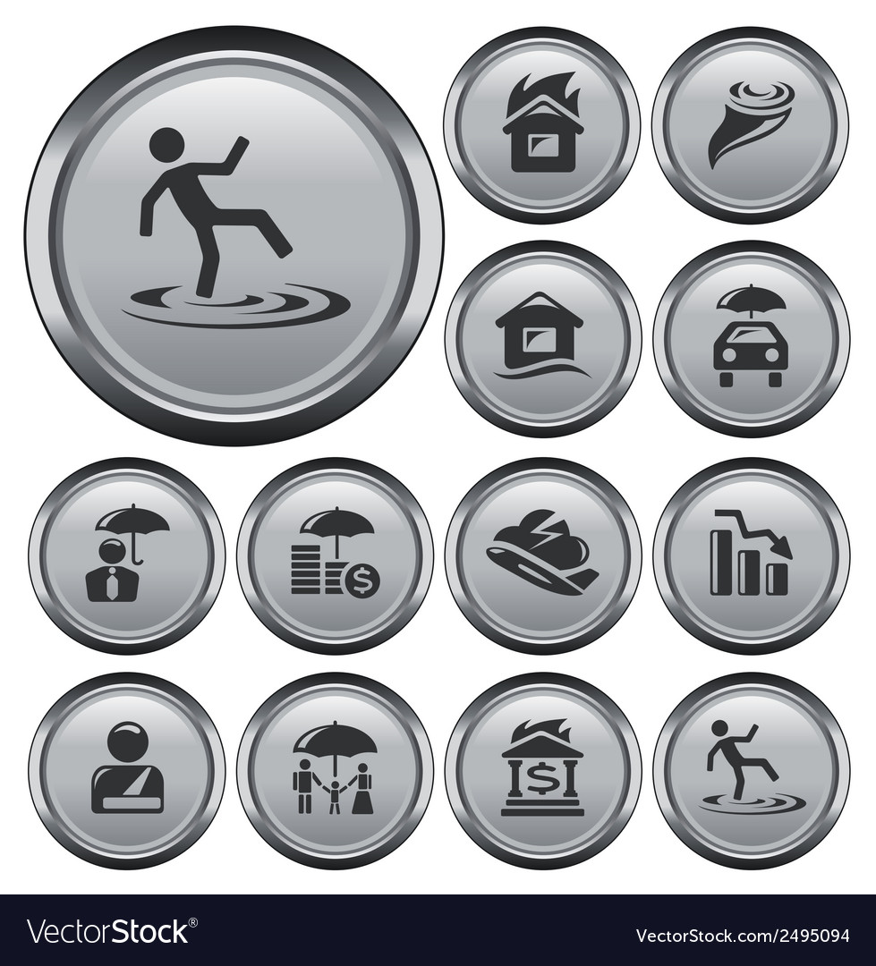 Insurance buttons vector | Price: 1 Credit (USD $1)