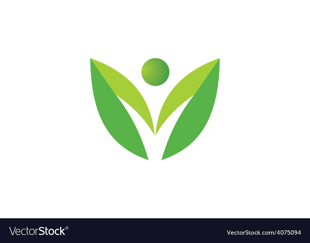 Leaf people nature ecology logo vector | Price: 1 Credit (USD $1)