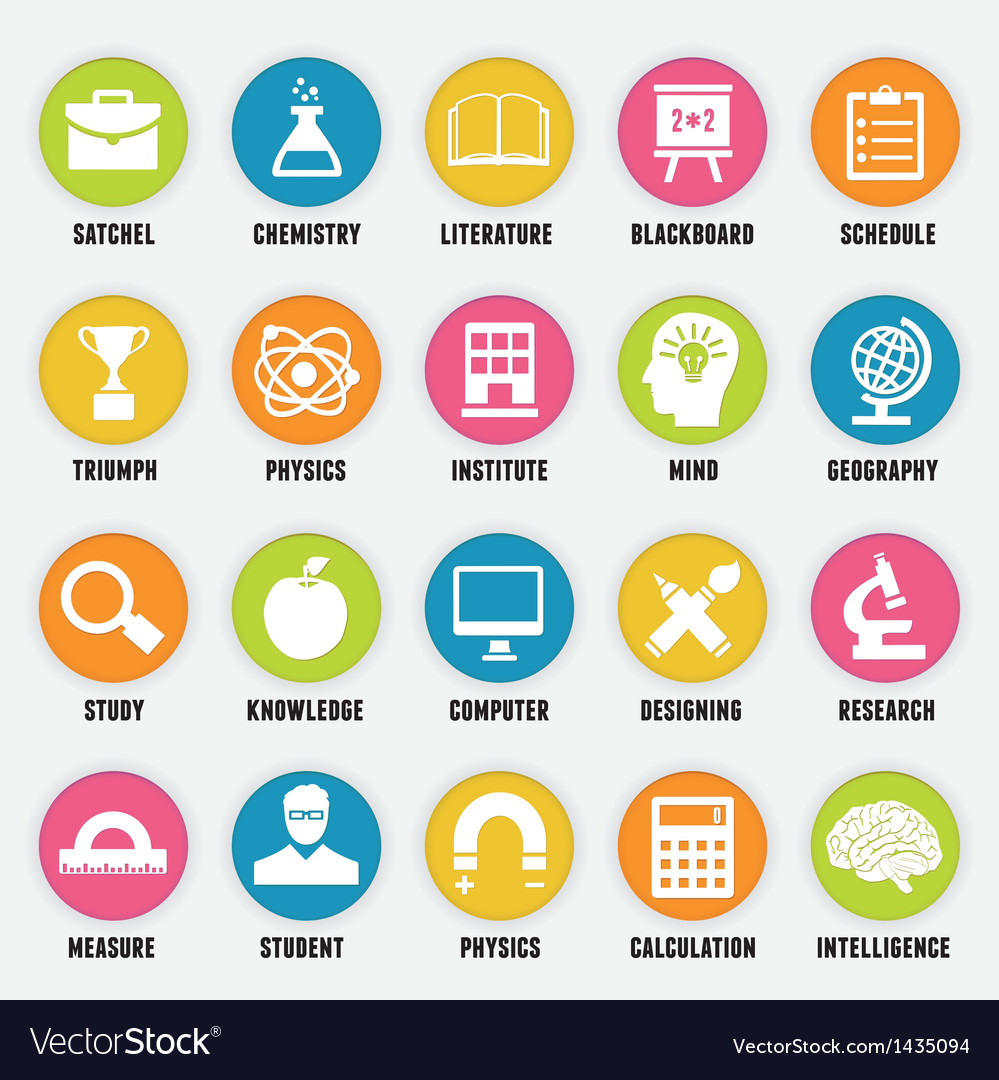 Set of education icons - part 1 vector | Price: 3 Credit (USD $3)