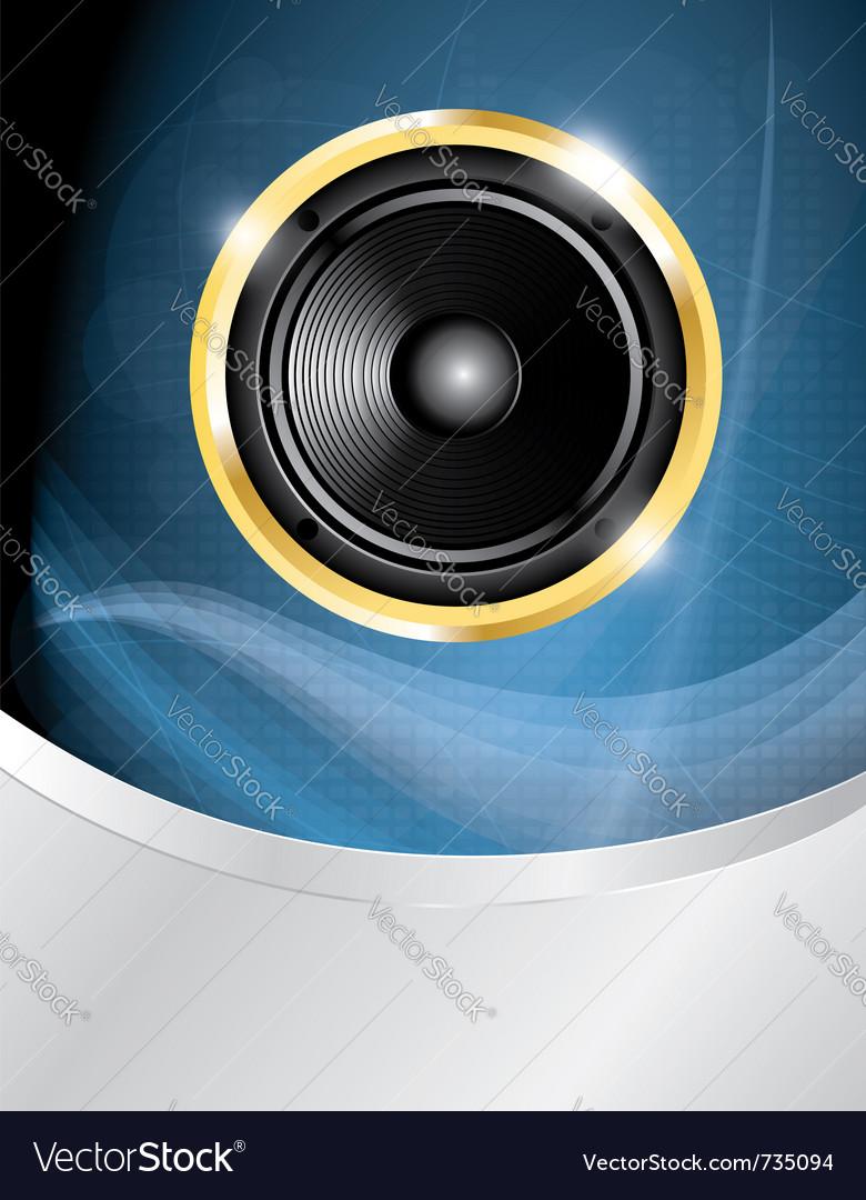 Speaker on blue neon vector | Price: 1 Credit (USD $1)