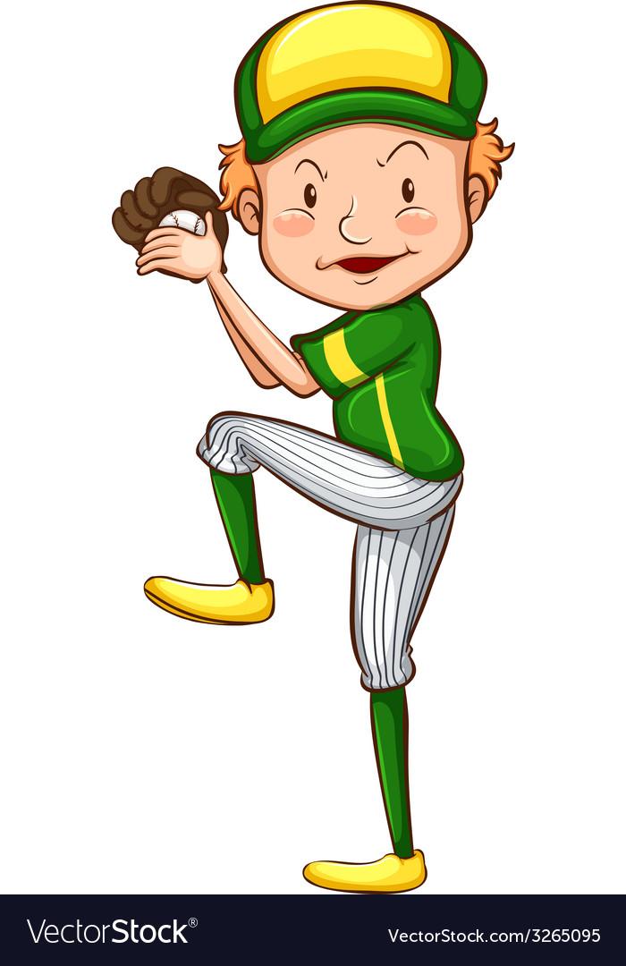A baseball player vector | Price: 1 Credit (USD $1)
