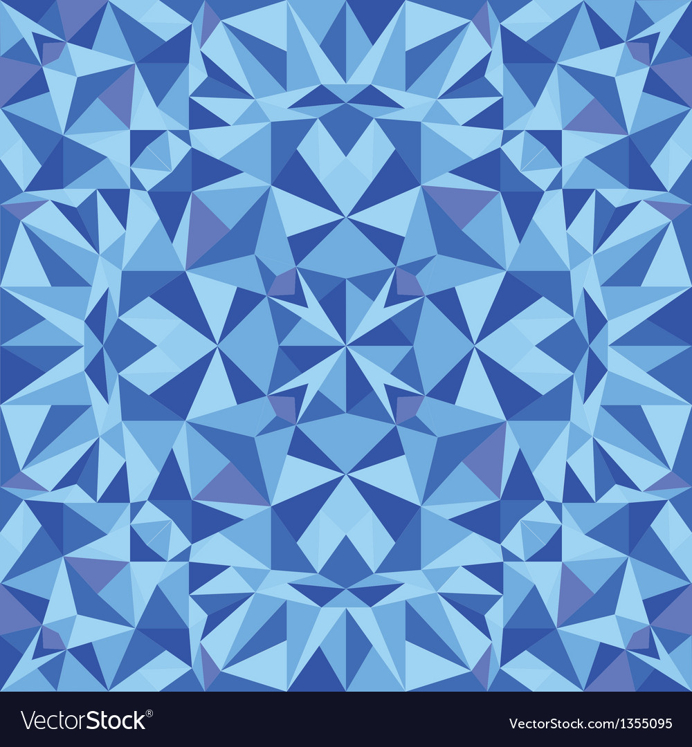 Blue triangle texture seamless pattern background vector | Price: 1 Credit (USD $1)