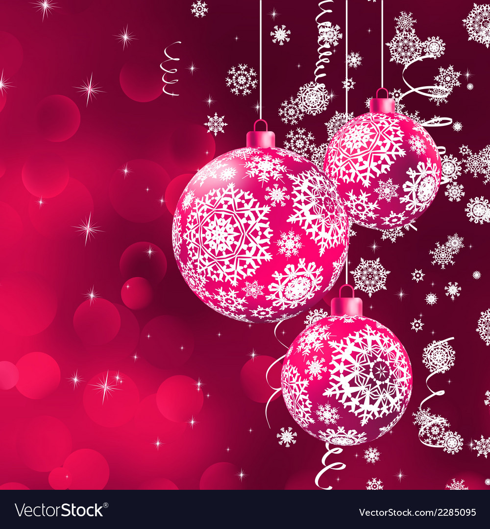 Christmas background with the purple balls eps 8 vector | Price: 1 Credit (USD $1)