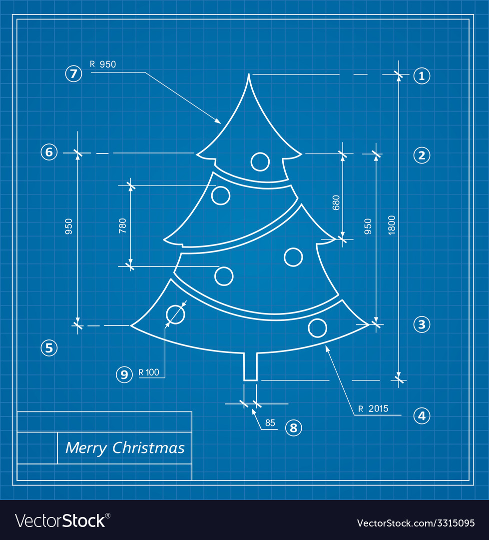 Christmas blueprints vector | Price: 1 Credit (USD $1)