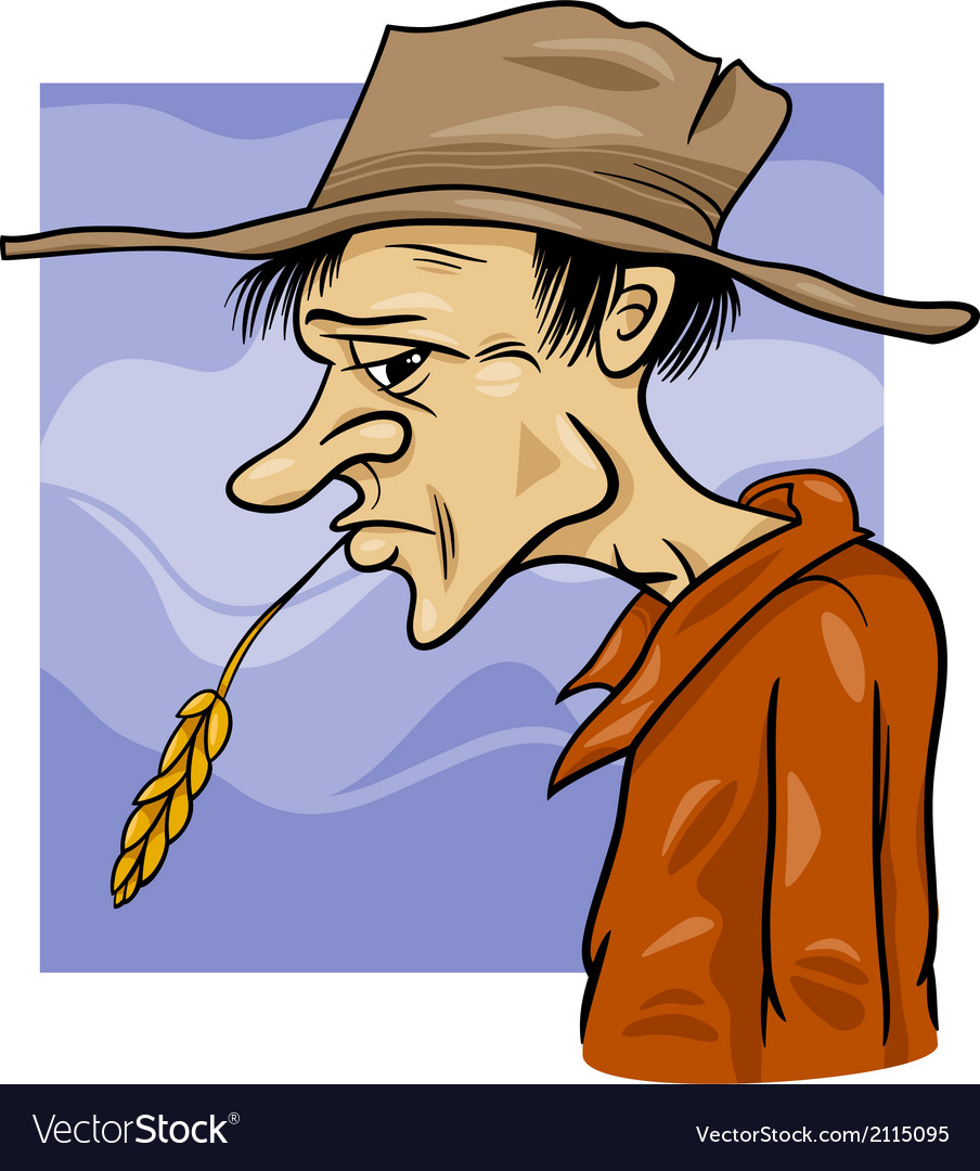 Country farmer cartoon vector | Price: 1 Credit (USD $1)
