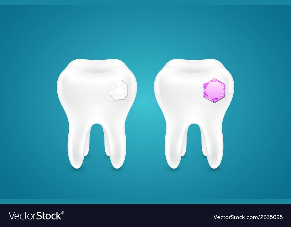 Diamonds in human teeth vector | Price: 1 Credit (USD $1)