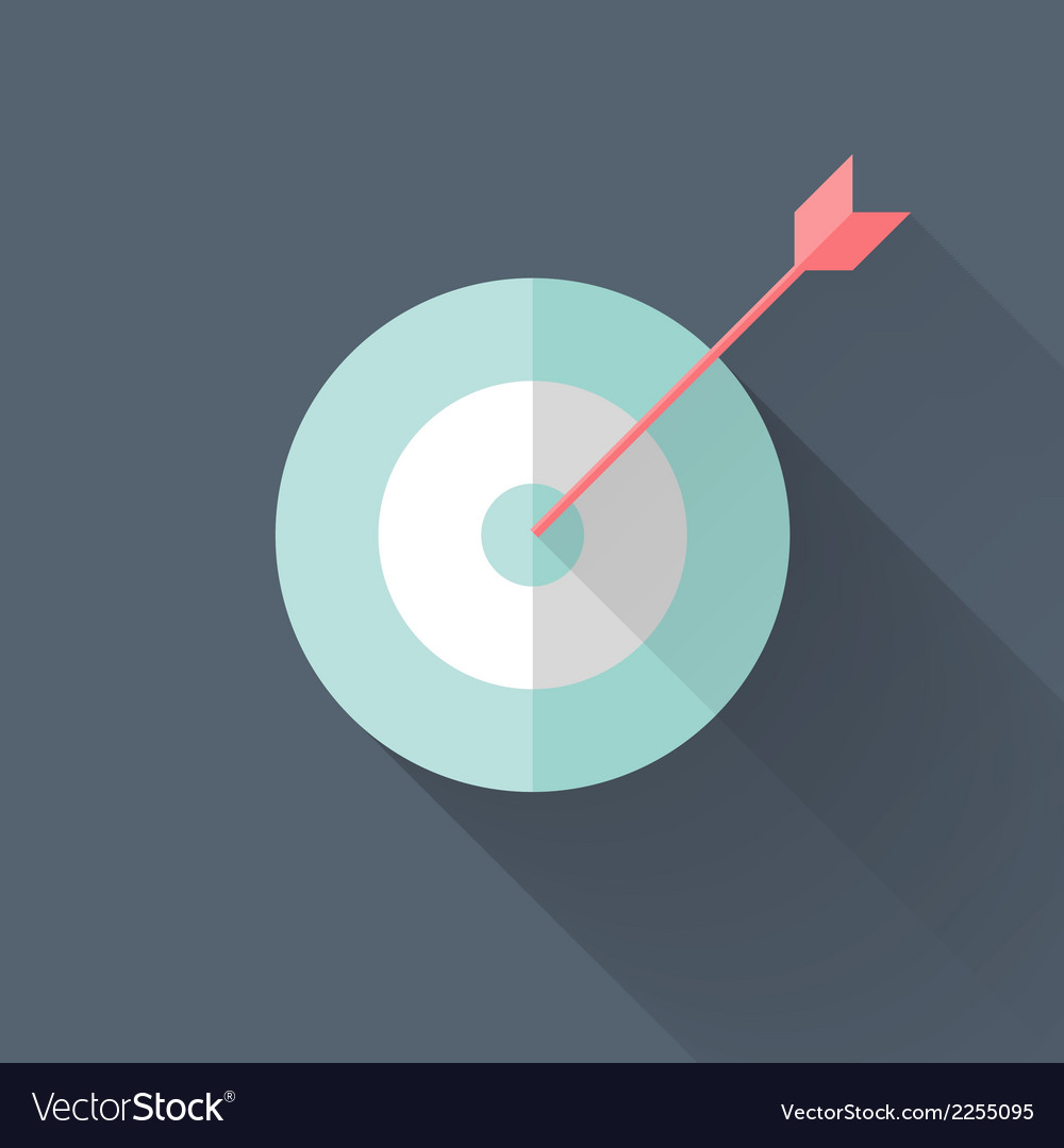 Flat target icon vector | Price: 1 Credit (USD $1)