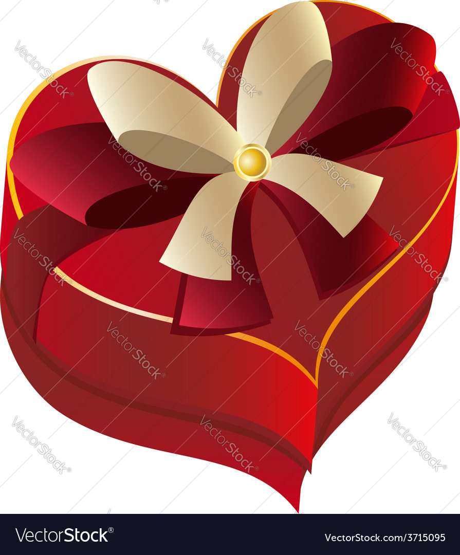 Heart shaped box vector | Price: 1 Credit (USD $1)