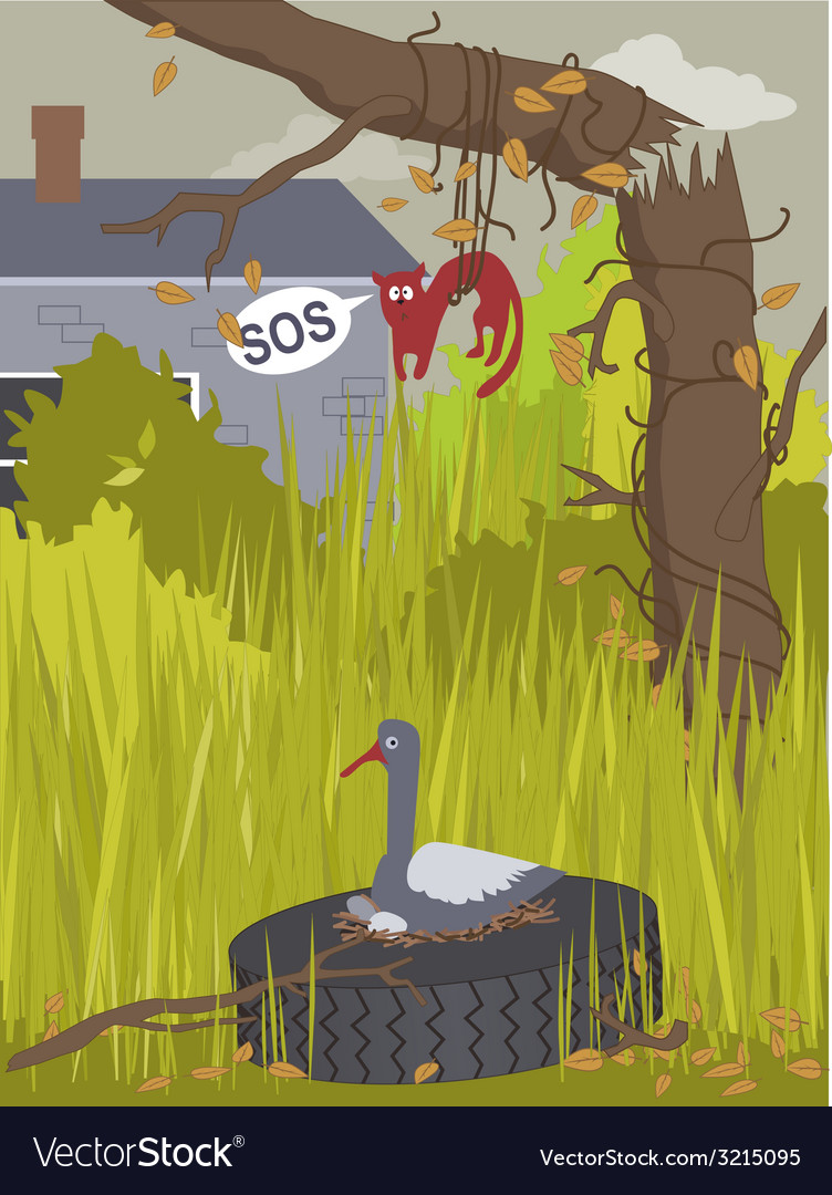 Messy yard vector | Price: 1 Credit (USD $1)