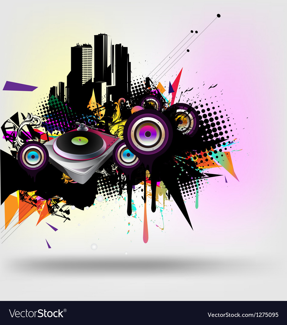 Music urban vector | Price: 1 Credit (USD $1)