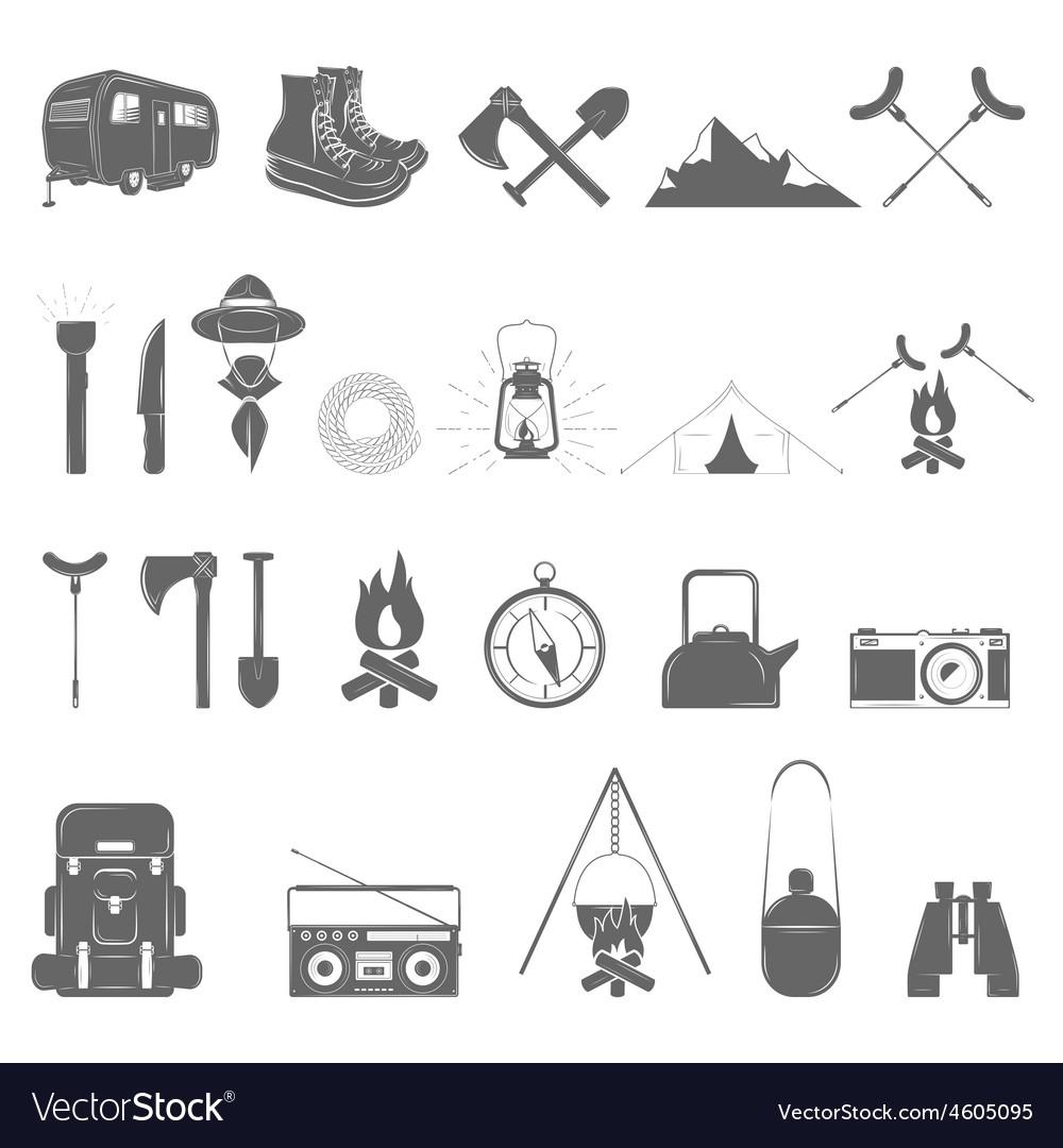 Outdoor recreation icon set vector | Price: 1 Credit (USD $1)