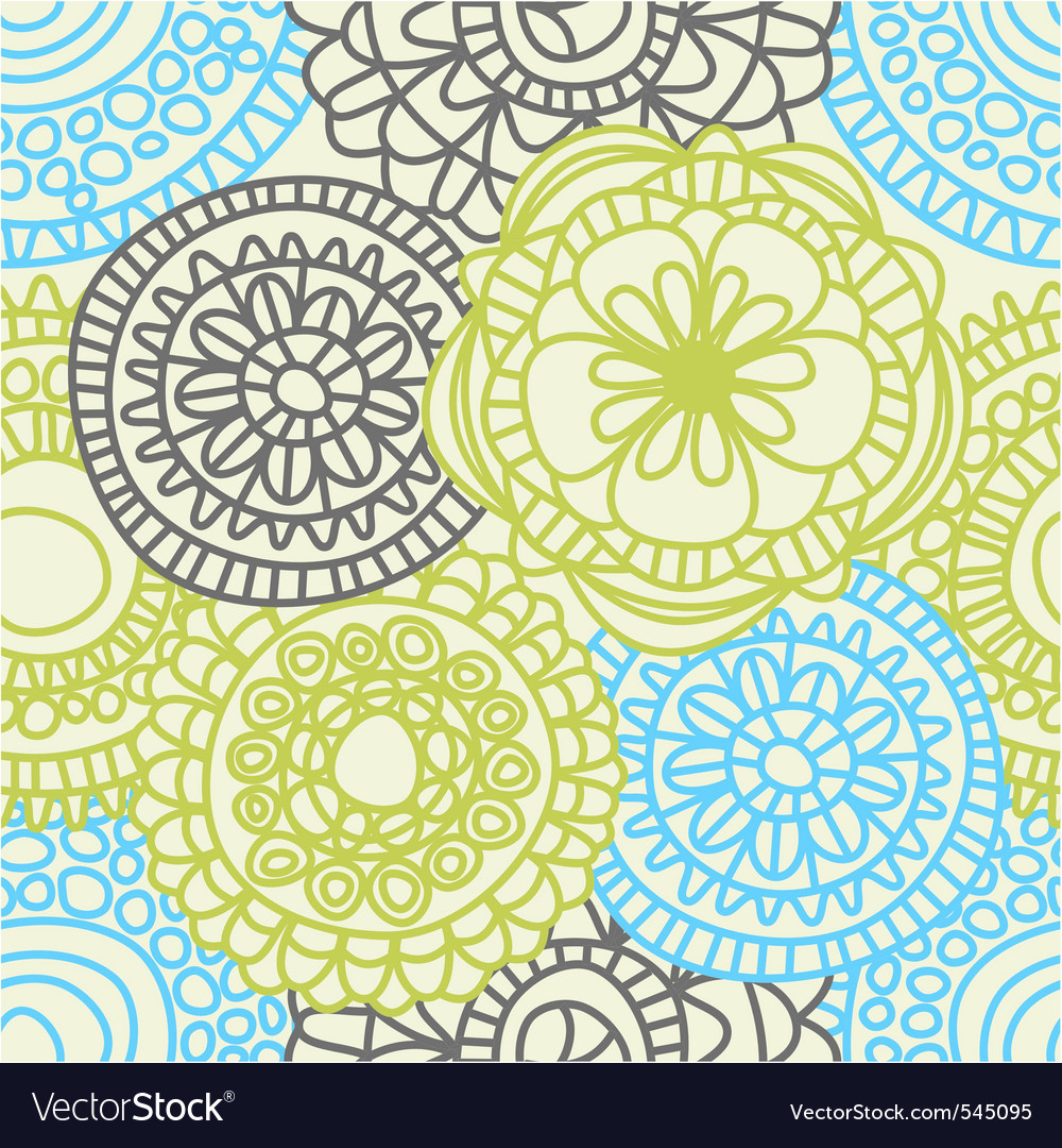 Stylish floral background vector | Price: 1 Credit (USD $1)