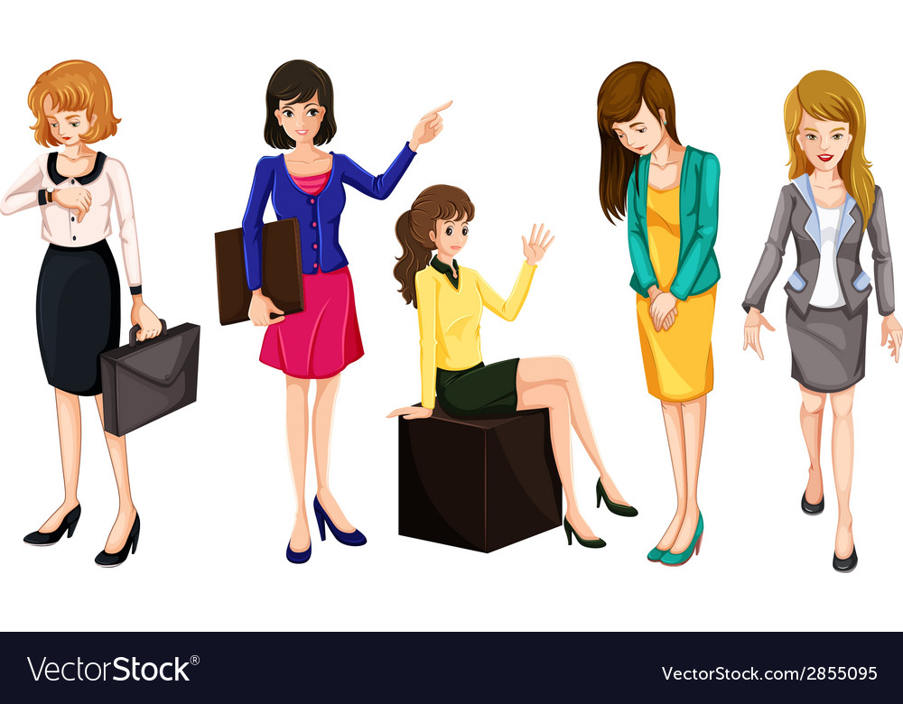 Working women vector | Price: 1 Credit (USD $1)