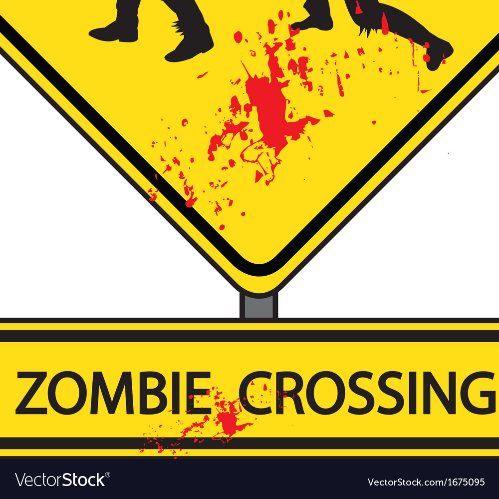 Zombie crossing vector | Price: 1 Credit (USD $1)