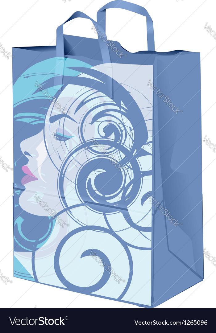 Beauty paper bag vector | Price: 1 Credit (USD $1)