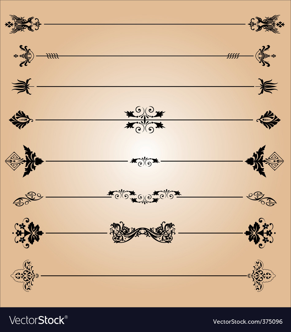 Elements of decoration design vector | Price: 1 Credit (USD $1)